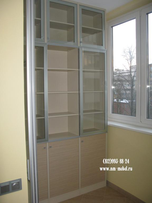 Шкаф купе из ламинированного дсп для балкона.