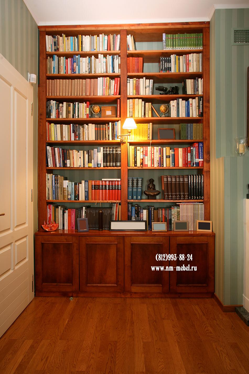 Книжные шкафы в петербурге на заказ. мебель для библиотеки: .