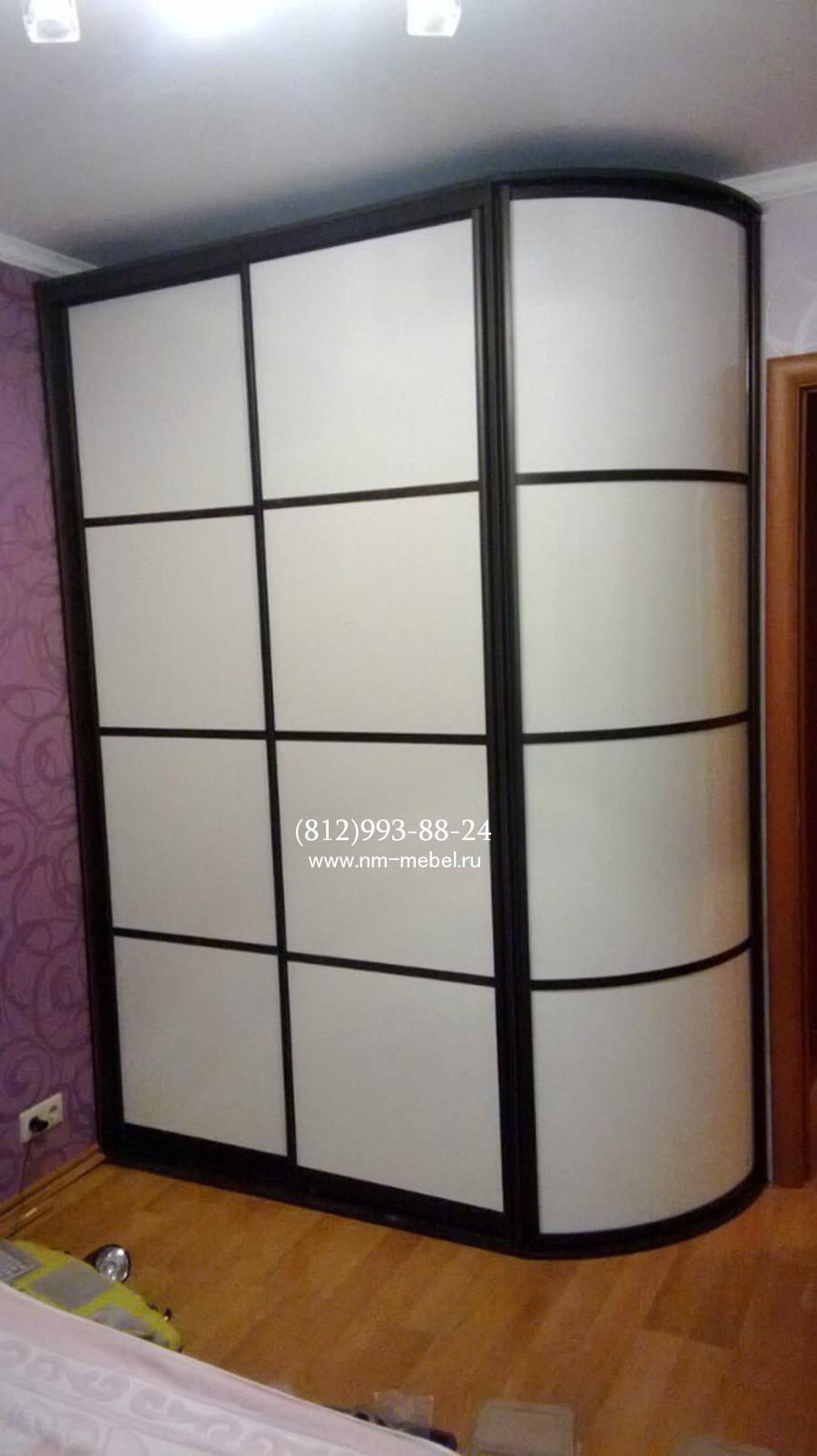 Фото и картинки. круглые и радиальные шкафы с дверьми купе и.
