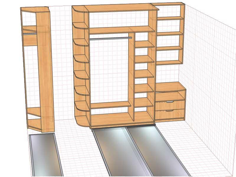 Проекты, схемы, чертежи, картинки шкафов на заказ в петербур.
